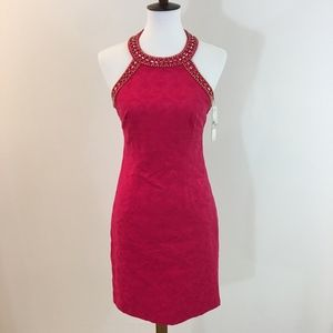 NWOT Laundry by Shelli Segal Pink Halter Dress -2